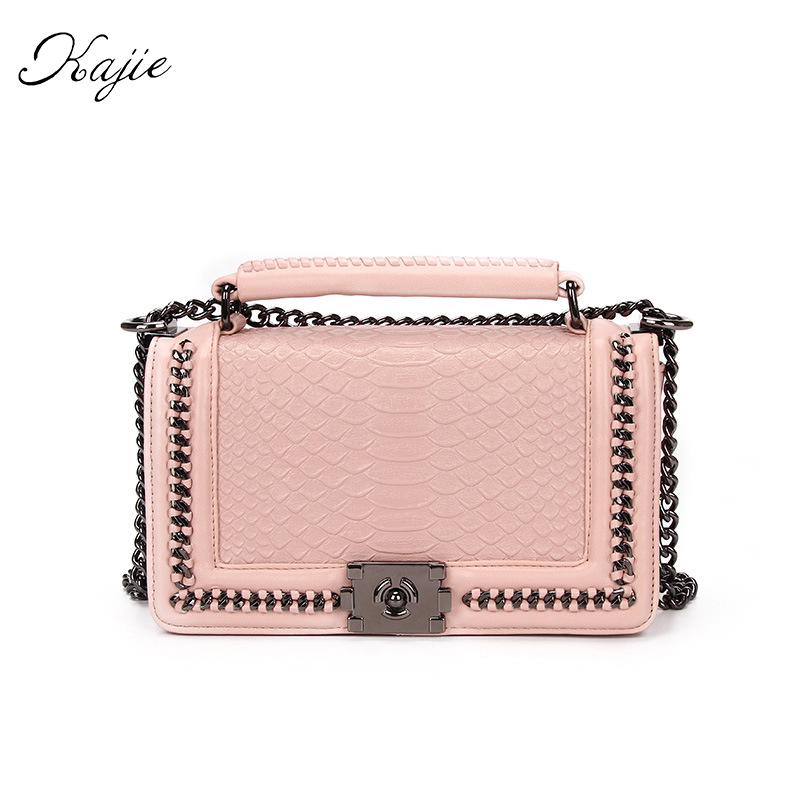 Luxury Women Genuine Leather Messenger Bags Famous Brand Designer Crossbody Bag Fashion Chain Serpentine Small Shoulder Bag hot sale luxury brand fashion chain casual shoulder bag messenger bag famous designer velvet leather women crossbody bags clutch