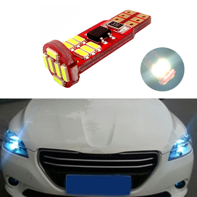 BOAOSI 1x Canbus Car Wedge Light W5W T10 <font><b>LED</b></font> 4014 SMD Auto Lamp Bulb For <font><b>Peugeot</b></font> 307 206 301 207 2008 508 301 3008 406 507 <font><b>208</b></font> image