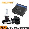 Auxmart H7 Car LED Headlight Kit 8000lm 50W/Set CSP CREE Chips Fog Light Head Lamp For Hyundai Lada Honda Toyota