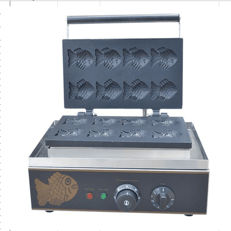 110V 220V 8pcs Korean Fish Cakes Machine Commercial Electric Fish Shaped Cake Machine Ice Cream Taiyaki Waffle Maker taiyaki maker with ice cream filling taiyaki machine for sale ice cream filling to fish shaped cake fish cake maker