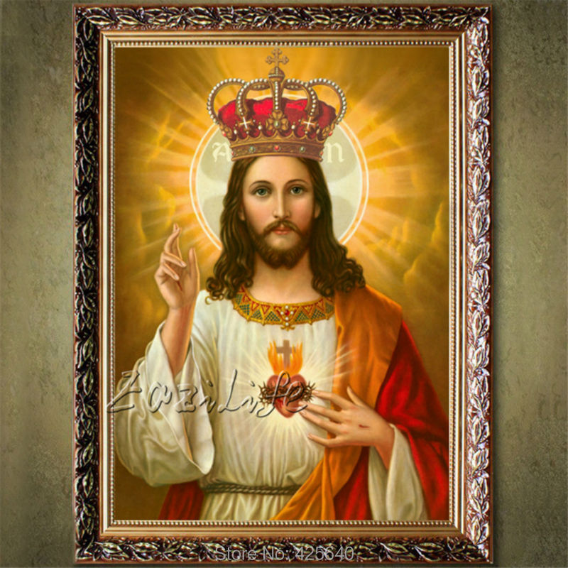 home decor jesus christ painting sacred heart jesus heart art decor painting print giclee art print