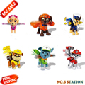 6pc Russian Cartoon Canine Patrol Puppy Dog Toys Sliding Car Action Figures Toy Doll Model Kids Gift Patrulla Canina juguetes