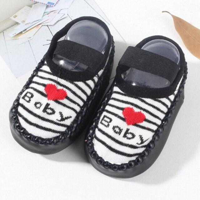 Mode Kinder Infant Rosa Cartoon Baby Schuhe Socken Kinder Indoor