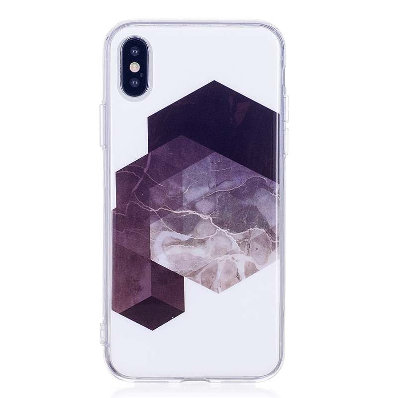 For iphone 5s 5 6 6s 8 6/7/8 plus X Granite Scrub Marble Stone image English Words Painted Silicone Phone Case For iphone 7 case