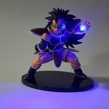 Dragon Ball Led Lighting Super Saiyan Raditz Kamehameha Led Lamp 150mm Anime Dragon Ball Action Figures Toy DBZ