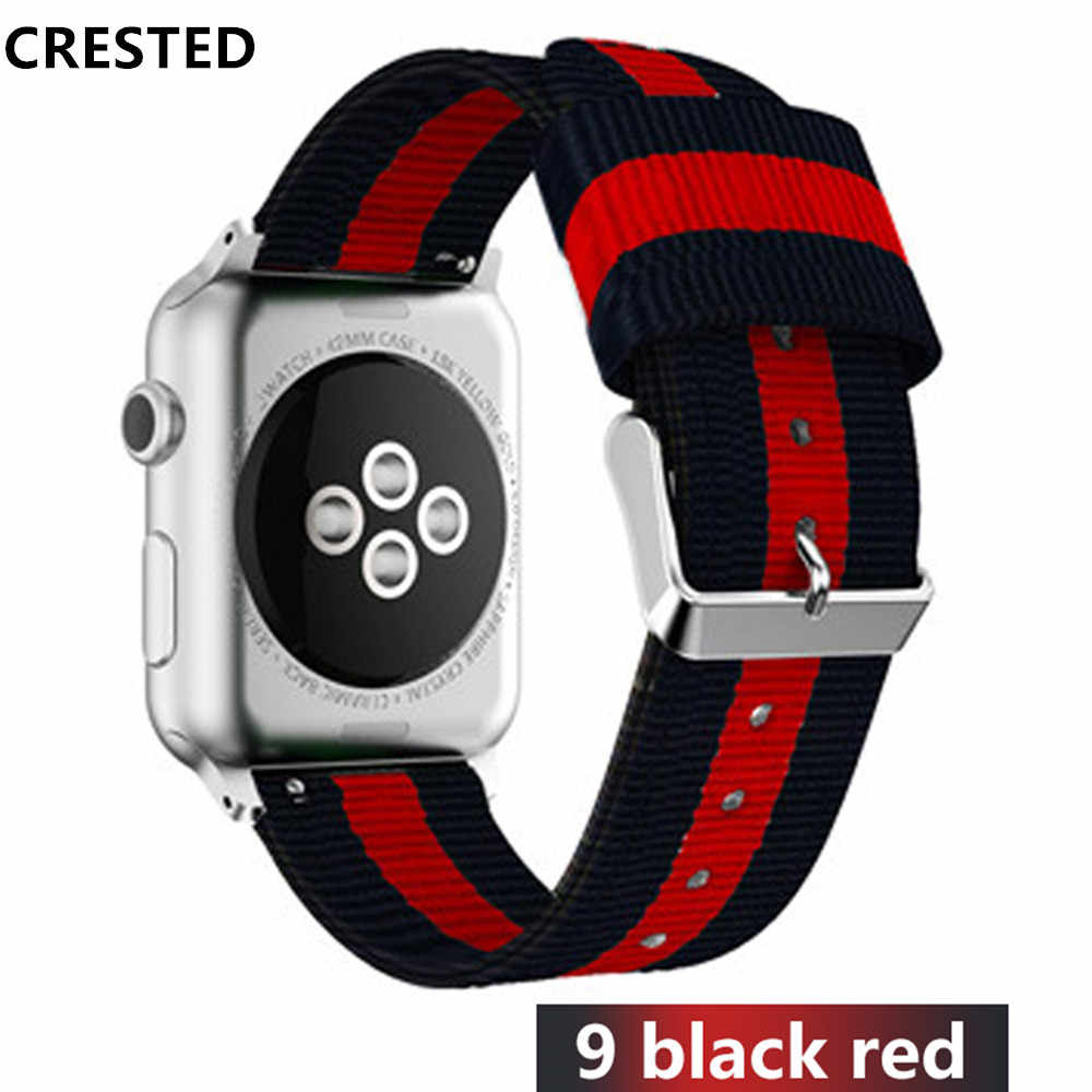 Nato strap For Apple Watch band 42mm/44mm iwatch band 38mm/40mm apple watch 4 3 correa woven nylon wrist bracelet Accessories