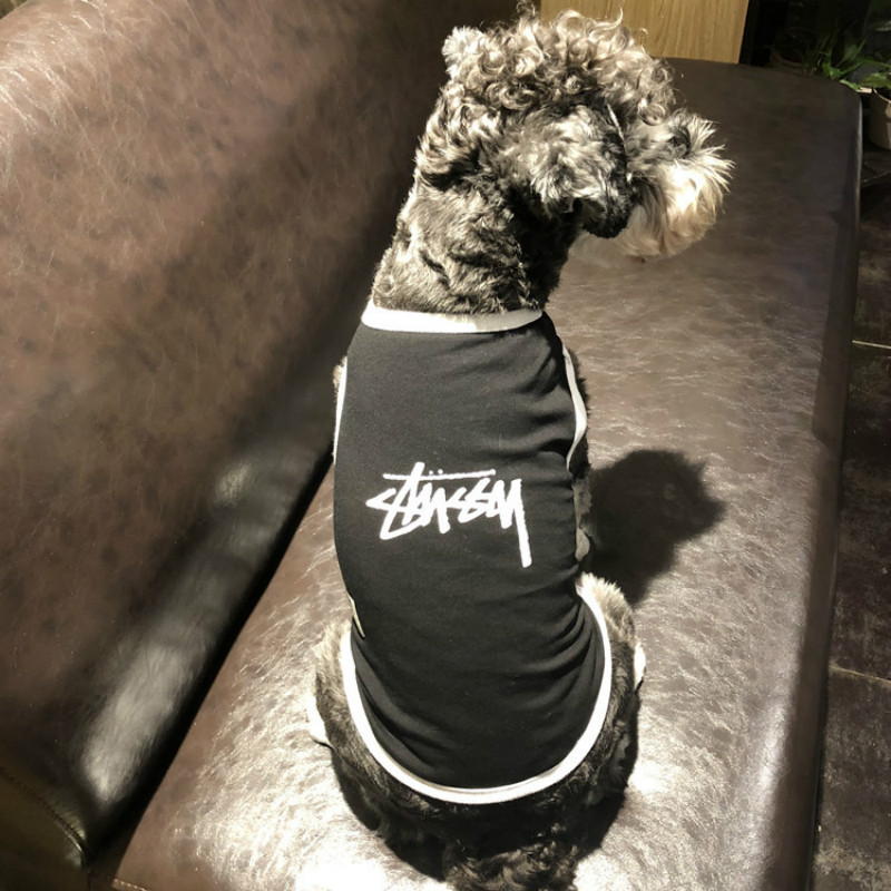 New Dog Vest Summer Thin Cotton Breathable Pet Tide Brand Teddy Bucket Schnauzer Clothing French Bulldog Puppy Clothes