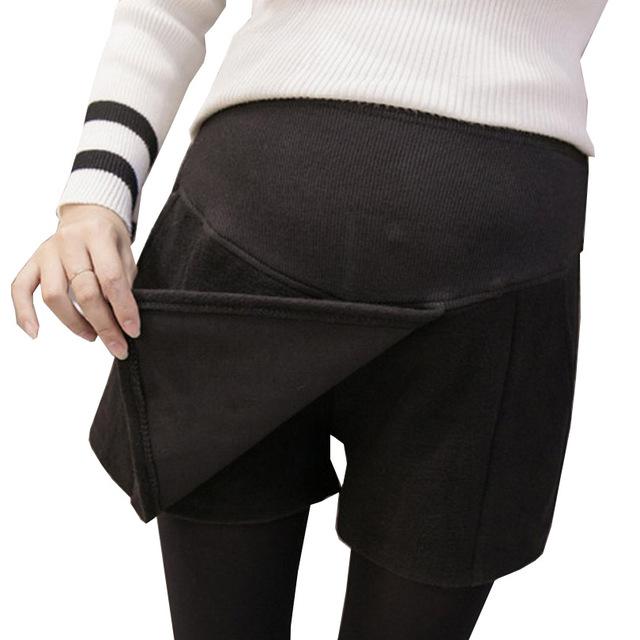 Gestantes maternidad Moda Los Pantalones Cortos para Las Mujeres Embarazadas Pantalones Cortos con Bolsillos Sólido Ropa Nueva de Invierno Cortos Premama Embarazo