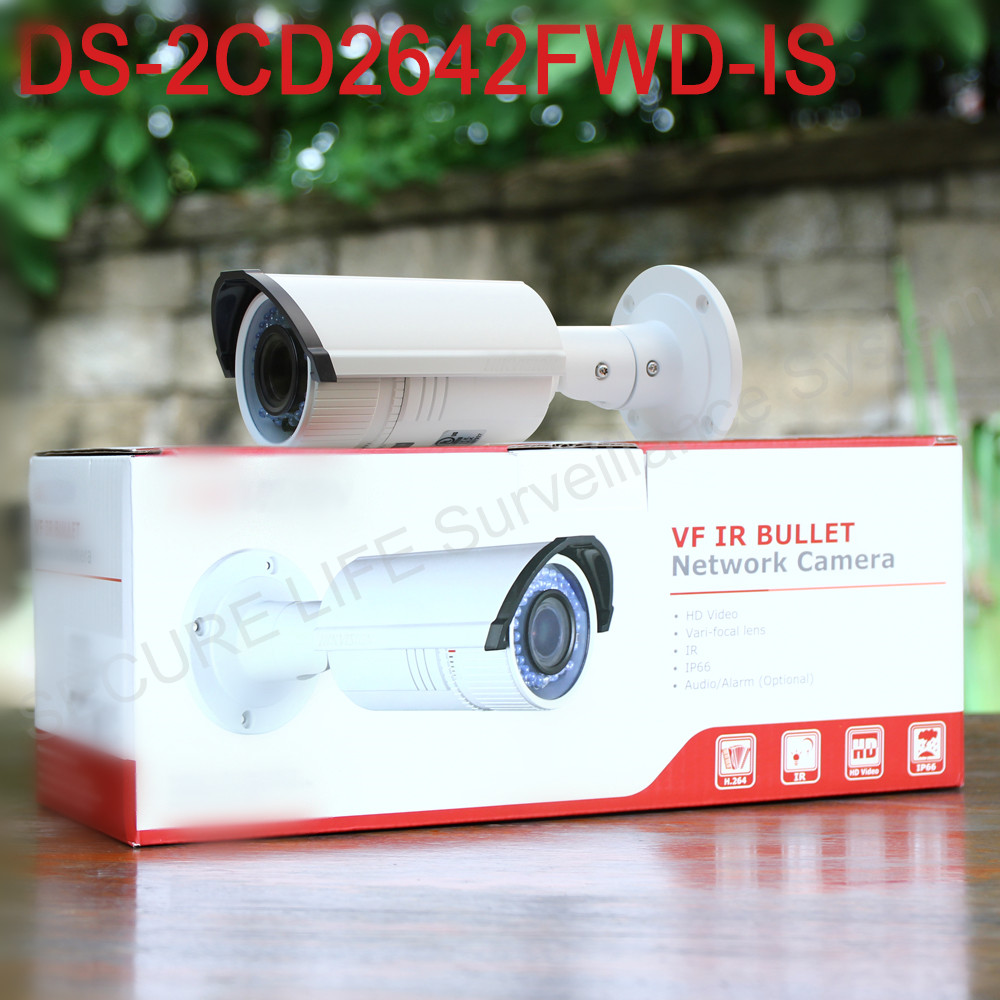 Free shipping English version DS-2CD2642FWD-IS 4MP WDR Bullet Network ip cctv Camera Vari-focal lens POE, SD card recording hik origina ds 2cd2642fwd is 4mp wdr 2 7 12mm vari focal lens network hd bullet poe cctv camera