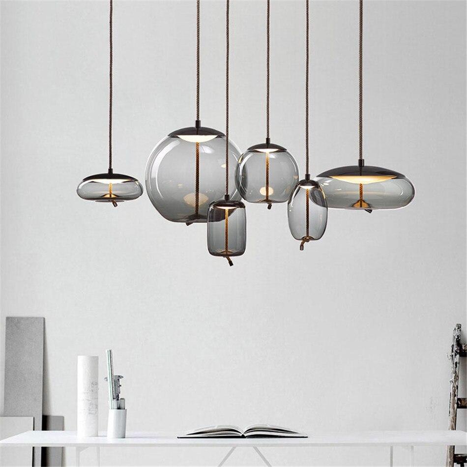 Loft nordique lumière Vintage industriel pendentif lumière cuisine moderne Suspendu Loft luminaires salon Luminaire Suspendu Art