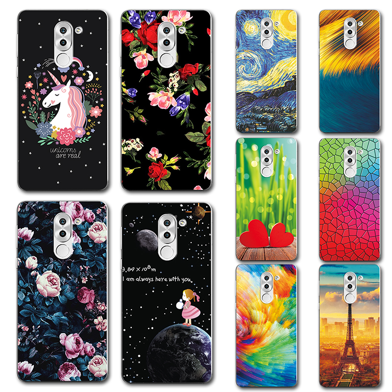 Responsible For Huawei Honor 6x Case Novelty Silicone Phone Case Cover For Coque Huawei Honor 6x Cute Painted Back Covers Fundas Gr5 2017 To Be Highly Praised And Appreciated By The Consuming Public Cellphones & Telecommunications