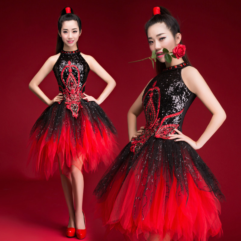 Modern Dance Costumes Ds Sequins Female Adult Youth Jazz Dance Costumes Drums Dance Opening Dance