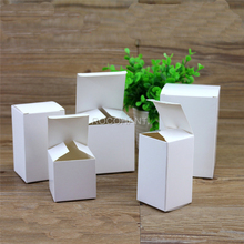 50PCS Carton Kraft Paper Box Party Wedding Favors White Gift Box Candy Box Gloss Open Lid