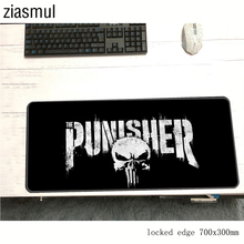 Punisher skull padmouse present 70x30cm pad to mouse notbook computer mousepad B