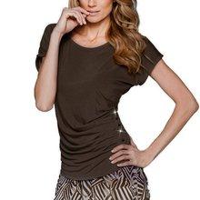 Summer Women T-Shirts O-neck Short Sleeve Draped T Shirt Candy Color T-Shirt Casual Loose Women Tops Hot