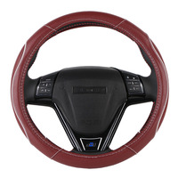 O SHI CAR Steering Wheel Covers Universal 15 Inch High Quality Artificial Leather Anti Slip Odor
