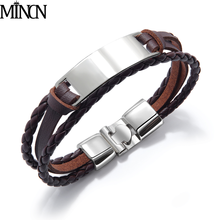 MINCN Mens Stainless Steel Bracelet Multilayer Woven Hand Strap and Womens Punk Jewelry Gifts