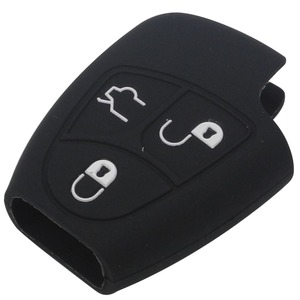Image 4 - Jingyuqin 3/4 Knop Siliconen Remote Key Case Voor Mercedes Benz B C E Ml Clk Cl Fob Cover houder Keyless Entry Beschermende