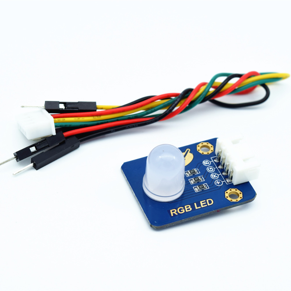 Adeept New 10MM RGB LED Module Light Emitting Diode for Arduino Raspberry Pi ARM AVR DSP PIC Freeshipping headphones diy diykit adeept new 4pcs digital push button keypad module for arduino raspberry pi arm avr dsp pic freeshipping headphones diy diykit