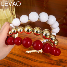 Levao White/Gold/White Pearl Beads Hairband Headband for Women Hair Hoop Bands Beaded Headbands Bezel Girls Hair Accessories(China)