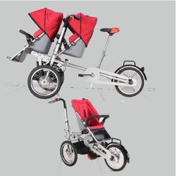 Travling taga matka wózek dziecięcy rower trójkołowy wózek 2 zamówienia Wózki trzykołowe    -