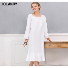 High-grade Maternity Clothes Dress Long Sleeve Nightdress Princess Palace Pajamas Home Furnishing Suit for Pregnant Women YFQ147