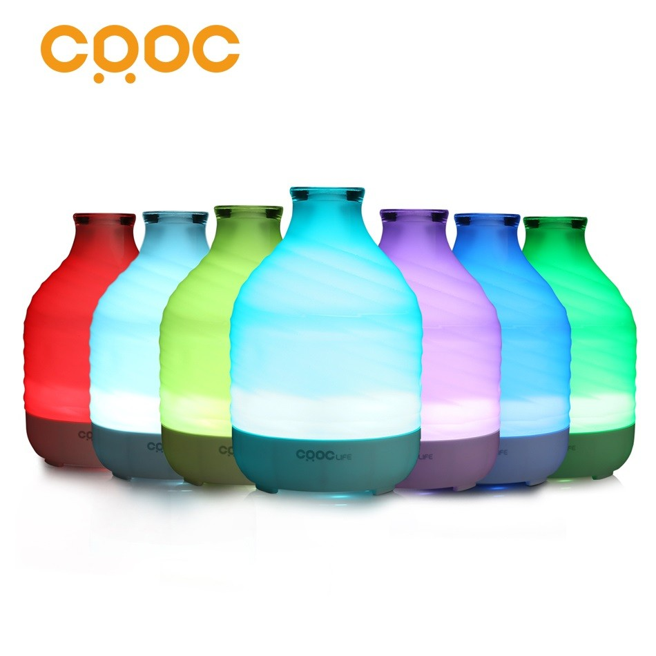 CRDC Indoor Air Humidifier Ultrasonic Aroma Essential Oil Diffuser For Aromatherapy 200ml Glass Home Air Freshner Fog Generator hot sale humidifier aromatherapy essential oil 100 240v 100ml water capacity 20 30 square meters ultrasonic 12w 13 13 9 5cm