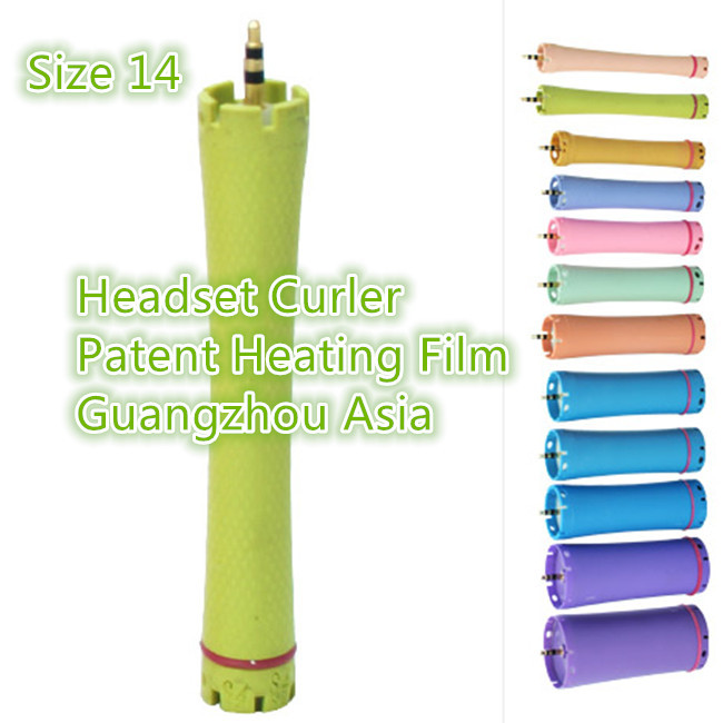 2017 Hot Sale Hair Curler, Hair Perm Roller, Water-Proof, Headsed Edition, Size 14