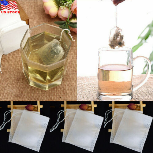 Appearanice 100pcs//set Empty Teabags String Heat Seal Filter Paper Herb Loose Tea Bags