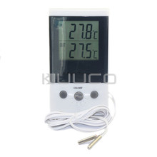 Portable Temperature Meter -50~+70 Celsius Degree Dual Display Digital Tester Thermometer for cold storage /Refrigerator/Car etc