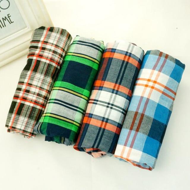 Men Underwear Cotton Boxers Loose Shorts 4 pcs/lot Mens Panties Big Short Breathable Flexible Shorts Boxers Home Underpants
