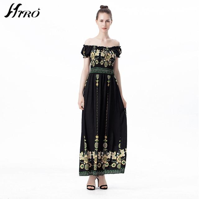 2017 HIRO Summer Dresses Floral Print Vintage Chiffon Sex Max Dress  Vestidos De Fiesta Boho Style c45c37ee28ec