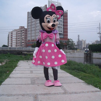 Pink Minnie Mouse Adult Size Cartoon Mascot Costumes For Of Kids
