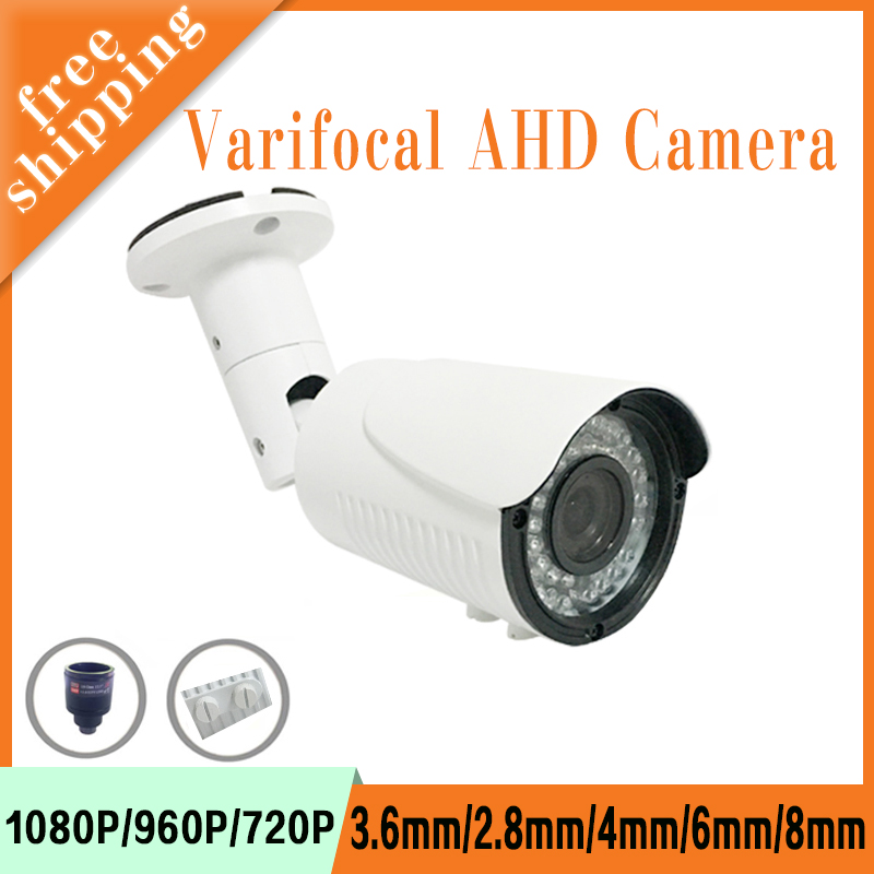 5mp/4mp/1080P/960P/720P White Metal infrared Leds 2.8mm-12mm Varifocal AHD CCTV Security Camera Free Shipping 4pcs a lot similar to dahua six array leds 4mp 1080p 960p 720p cmos outdoor surveillance white ahd security camera free shipping