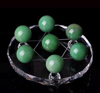 Natural aventurine jade crystal ball decoration green aventurine jade seven array decoration crystal ball seven matrix фото