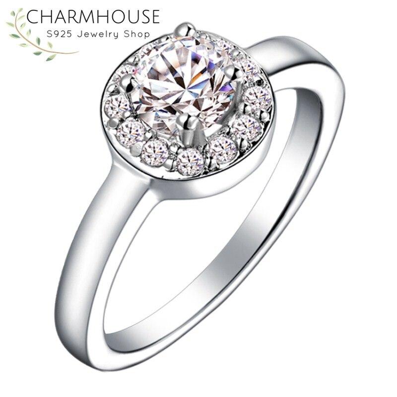 Свадебные Кристалл Кольца для Для женщин большой ААА Цирконий кольцо обещание Обручение кольца модного бренда ювелирные изделия Анель ...