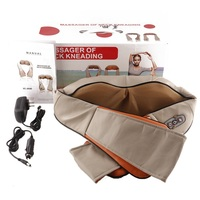 U Shape Electrical Shiatsu Back Neck Shoulder Massager Body Infrared 3D Kneading Massager EU UK Plug