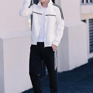 Image 3 - Set di Autunno della Molla dei nuovi Uomini Uomo Sportswear 2 Pezzi Set Vestito di Sport Jacket + Pant Tuta Maschile Tuta Asia formato L 4XL