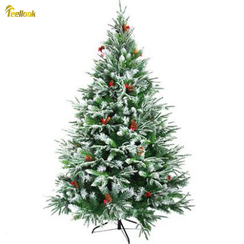 Pvc Christmas Trees.Us 129 0 Teellook 1 2m 3 0m Encryption Hybrid Pvc Pe Material Christmas Tree Christmas Day Decoration In Trees From Home Garden On Aliexpress Com