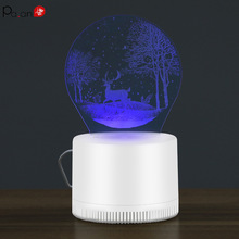 3D LED Illusion  Mosquito Bug Zapper Fly Swatter Creative Lamp Trap Racket