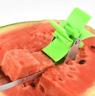 Watermelon Cutter Windmill Shape Plastic Slicer for Cutting Watermelon Power Save Cutter форма для нарезки арбуза
