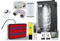 Eco Complete Grow Room Indoor Hydroponic 80x80X160cm Apollo 6 Led Grow Light 270W Ventilation Greenhouse Grow Kit Set up System