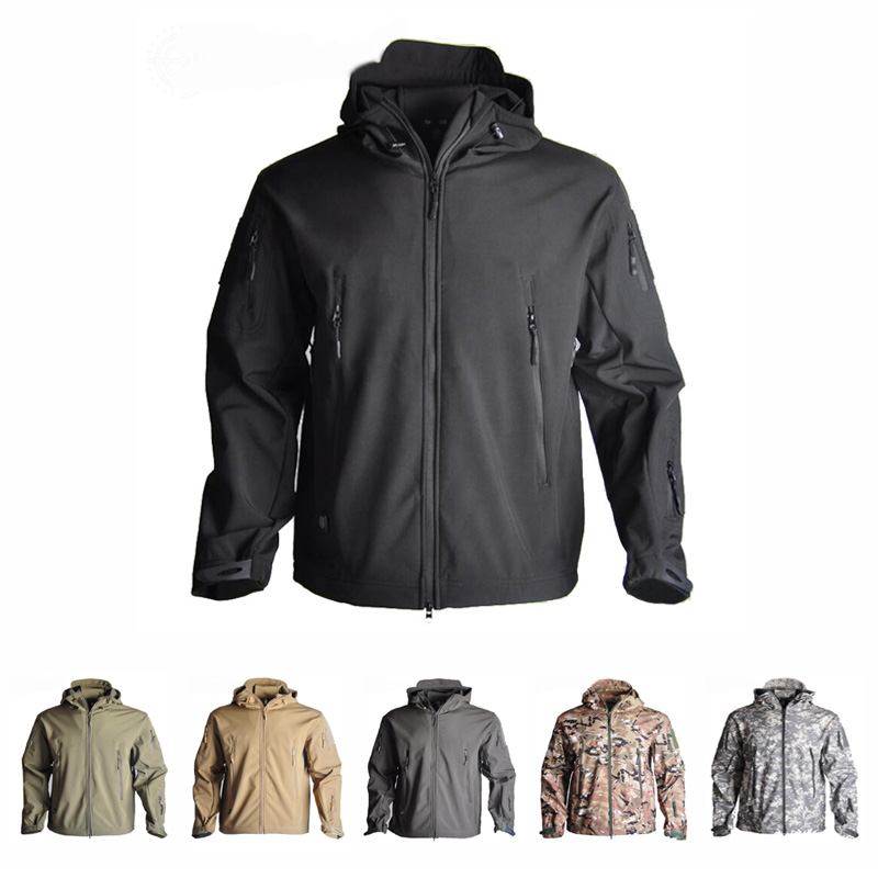 Men's Army Camouflage TAD Jacket Military Tactical Jacket Winter Windproof Soft Shell Coats Windbreaker Outdoor Hunting Clothes