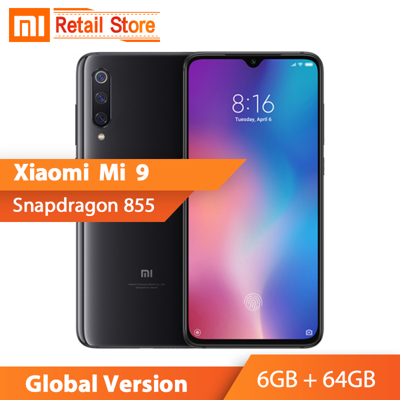 Global Version Xiaomi Mi 9 Mi9 6GB 64GB 6 39 AMOLED Screen Snapdragon 855 Octa Core