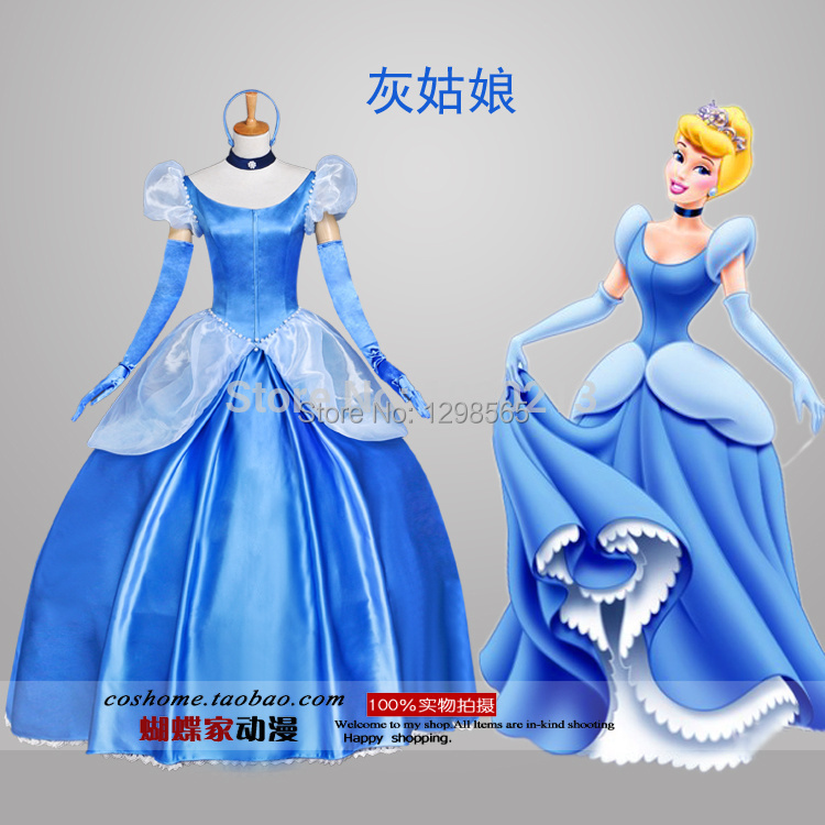 Custom Made Cinderella Dress Princess Dress Costume Adult Women's Fantasy Halloween Christmas Cosplay Costume