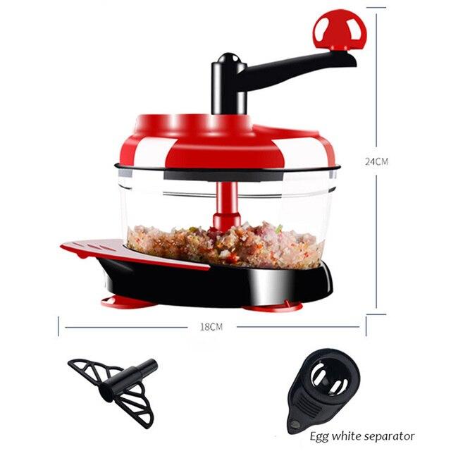Multifunction Manual Food Processor For Kitchen Portable Blender Meat Grinder Vegetable Chopper Cutter Egg Blender For Household 4