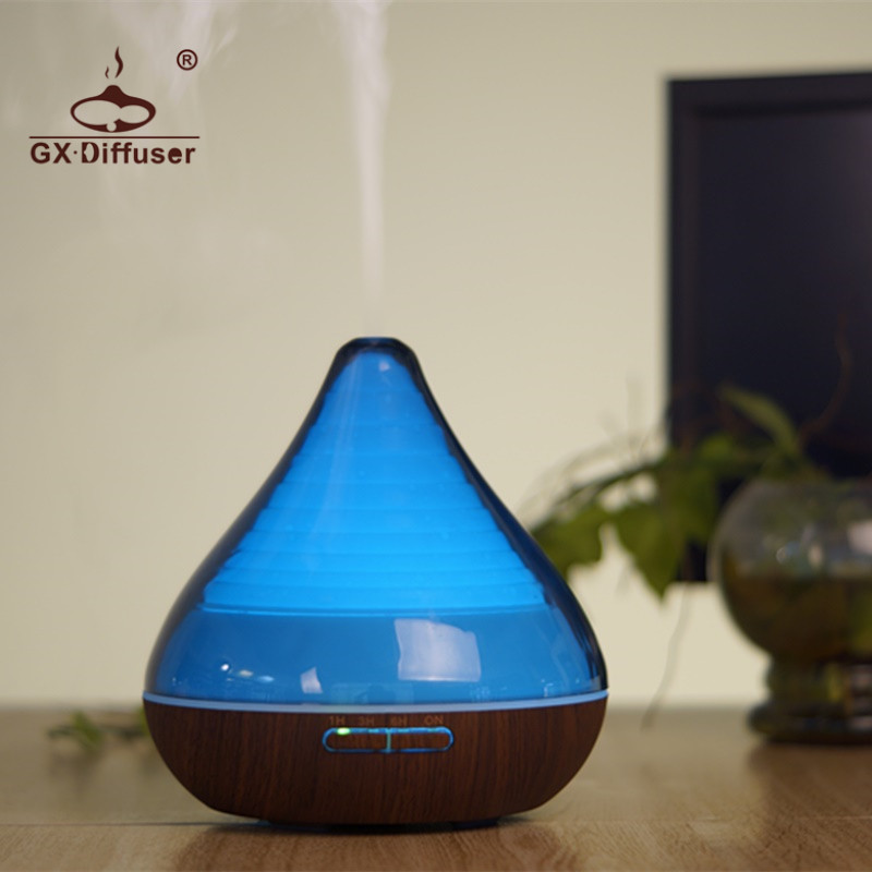 GX.Diffuser 7 Changing Colors Led Lights Portable Essential Oil Mist Maker Spa Ultrasonic Purifier Air Humidifier Aroma Diffuser