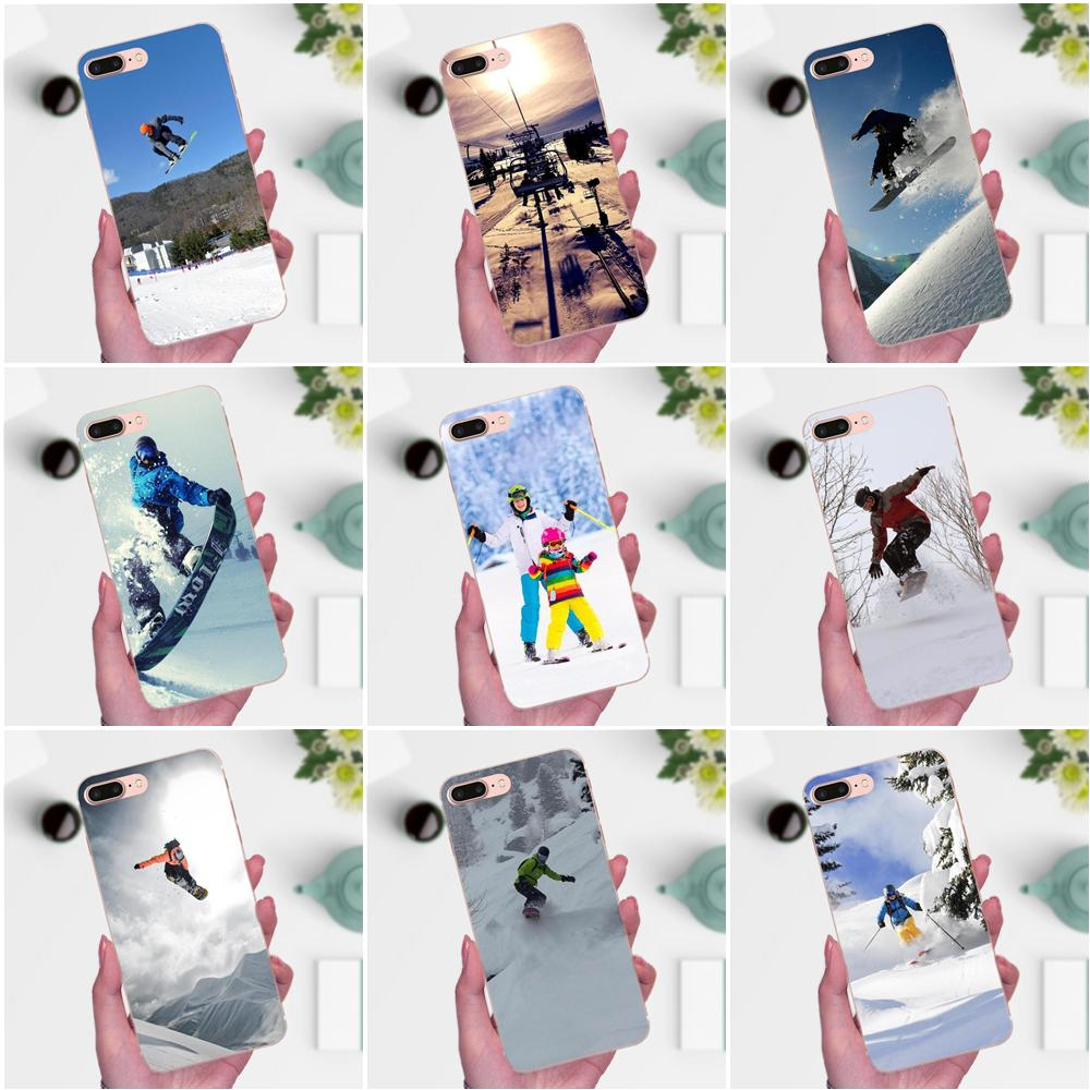 Diy Drawing TPU For Xiaomi Note 3 4 Mi3 Mi4 Mi4C Mi4i Mi5 Mi 5S 5X 6 6X 8 SE A1 Max Mix 2 Snow Or Die Ski Snowboard Sport Print
