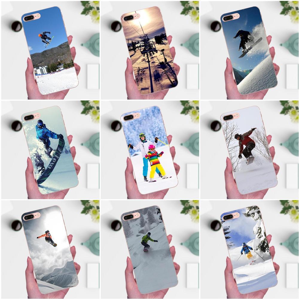 Diy Drawing TPU For Xiaomi Note 3 4 Mi3 Mi4 Mi4C Mi4i Mi5 Mi 5S 5X 6 6X 8 SE A1 Max Mix 2 Snow Or Die Ski Snowboard Sport Print