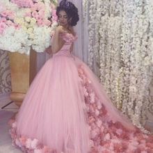 Sophoeniya V Neck Flower Ball gown Evening dress